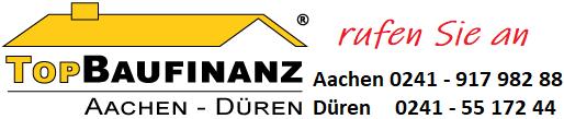 TopBaufinanz-Logo mit Kontakt